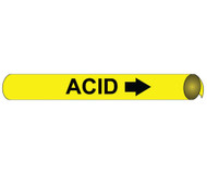ACID PRECOILED/STRAP-ON PIPE MARKER