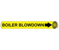 BOILER BLOW DOWN PRECOILED/STRAP-ON PIPE MARKER