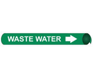 WASTE WATER PRECOILED/STRAP-ON PIPE MARKER