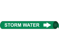 STORM WATER PRECOILED/STRAP-ON PIPE MARKER
