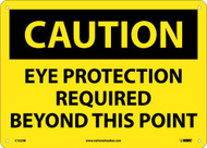 CAUTION EAR PROTECTION REQUIRED BEYOND THIS POINT SIGN