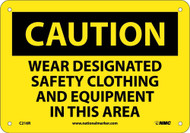 CAUTION DESIGNATED PPE IN THIS AREA SIGN