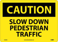 CAUTION SLOW DOWN PEDESTRIAN TRAFFIC SIGN