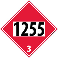 1255 3 DOT PLACARD SIGN