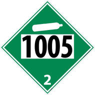 1005 2 DOT PLACARD SIGN