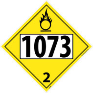 1073 3 DOT PLACARD SIGN