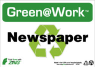 GREEN WORK NEWSPAPER SIGN