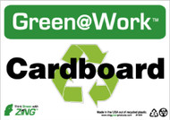 GREEN WORK CARDBOARD SIGN