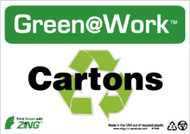 GREEN WORK CARTONS SIGN