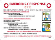 EMERGENCY RESPONSE CPR INSTRUCTIONS SIGN
