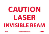 CAUTION LASER INVISIBLE BEAM SIGN