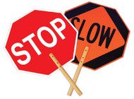 ALUMINUM REFLECTIVE SAFE-T-PADDLE STOP/SLOW SIGN