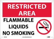RESTRICTED AREA DO NOT SMOKE IN THIS AREA SIGN