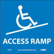 ADA LOCATION MARKER ACCESS RAMP SIGN