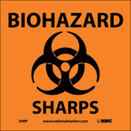 BIOHAZARD SHARPS SIGN