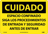 CAUTION CONFINED SPACE SIGN - SPANISH