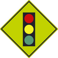 INTERSECTION WARNING GRAPHIC SIGN