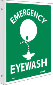 2-VIEW EMERGENCY EYEWASH SIGN