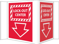 3-VIEW LOCK-OUT CENTER SIGN