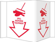 3-VIEW SPILL RESPONSE EQUIPMENT SIGN