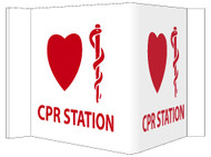 3-VIEW CPR STATION SIGN