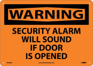 WARNING SECURITY ALARM WILL SOUND SIGN