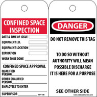 DANGER CONFINED SPACE TAG