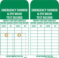 EMERGENCY SHOWER & EYE WASH TEST RECORD TAG