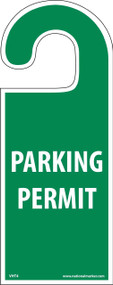 VEHICLE HANG TAG PARKING PERMIT TAG