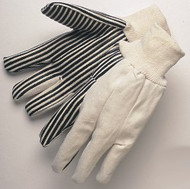 10 oz canvas - black PVC stripes - wing thumb - knit wrist