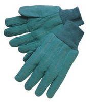 Heavy weight green chore - two layer quilted palm & back - knit wrist