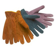 Suede leather drivers - assorted colors - keystone thumb - unlined - S