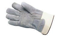 "Double leather palm & fingers - reinforced thumb - 2 3/4"" safety cuff"