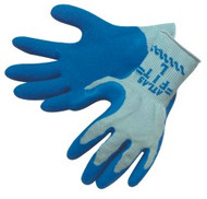 """ATLAS FIT"" 10 gauge, gray shell, blue latex dip palm/fingertips - S-XL"