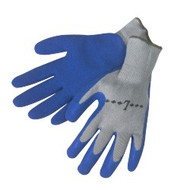 10 gauge, grey shell, blue latex dip palm/fingertips - S-XL