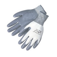 13 gauge, 100% Nylon shell, grey foam nitrile palm - XS-XL