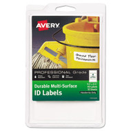 Durable Multi-Surface ID Labels, 1 1/4 x 3 1/2, White, 40/Pack