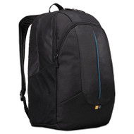 """Prevailer 17"""" Laptop Backpack, 12 1/2 x 12 1/4 x 18, Black with Blue Accent"""