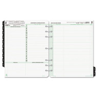 Reference Dated Two-Page-per-Day Organizer Refill, Jan.-Dec., 8 1/2 x 11, 2018