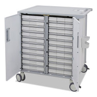 StyleView Transfer Cart, 37 1/2 x 28 x 41 1/4, White/Gray