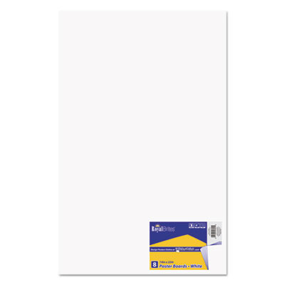 Premium Coated Poster Board, 14 x 22, White, 8/Pack