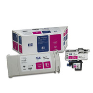 HP 81, (C4992A) Ink Cartridge/Printhead/Printhead Cleaner, 680 mL, Magenta