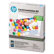 Card & Invitation Kit for Glossy Rounded Corner Flat Cards, 5 x 7, 25/Kit