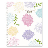 Whimsical Floral Monthly Planners, 8 1/2 x 11, 2018