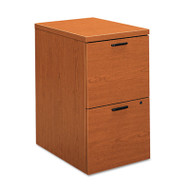 10500 Series File/File Mobile Pedestal, 15 3/4w x 22 3/4d x 28h, Bourbon Cherry