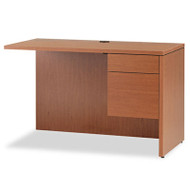 10500 Series L Workstation Return, 3/4 Height Right Ped, 48 x 24, Bourbon Cherry