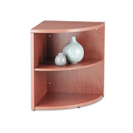 10500 Series Two-Shelf End Cap Bookshelf, 24w x 24d x 29-1/2h, Bourbon Cherry