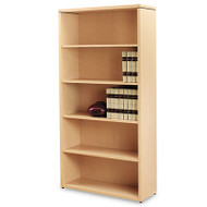 10500 Series Laminate Bookcase, Five-Shelf, 36w x 13-1/8d x 71h, Natural Maple