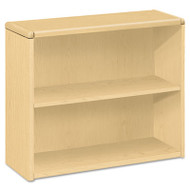 10700 Series Wood Bookcase, Two Shelf, 36w x 13 1/8d x 29 5/8h, Natural Maple