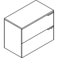 Voi Two-Drawer Lateral File, 36w x 20d x 29-1/2h, Mahogany
